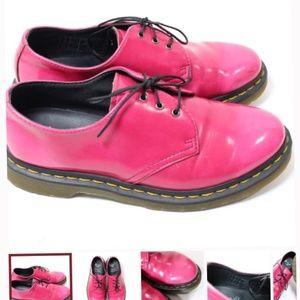 Doc Dr Marten pink Vegan Oxford Brogues Boots
